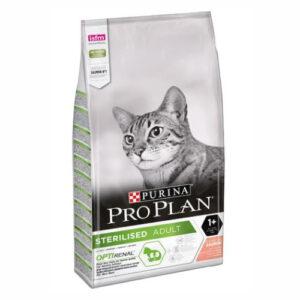 Purina Pro Plan Sterilised Salmon, корм для взрослых стерилизованных и кастрированных кошек, с лососем, 10 кг