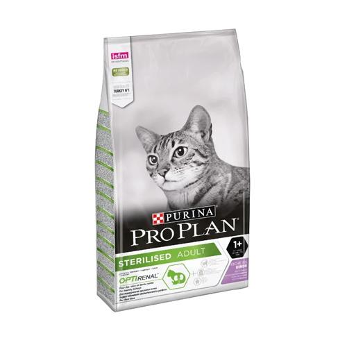 Purina Pro Plan Sterilised Turkey, корм для взрослых стерилизованных и кастрированных кошек с индейкой, 3 кг